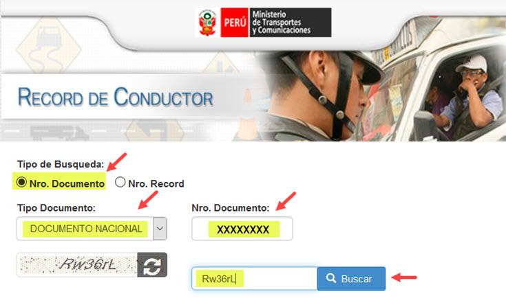 Record de Conductor MTC - 1